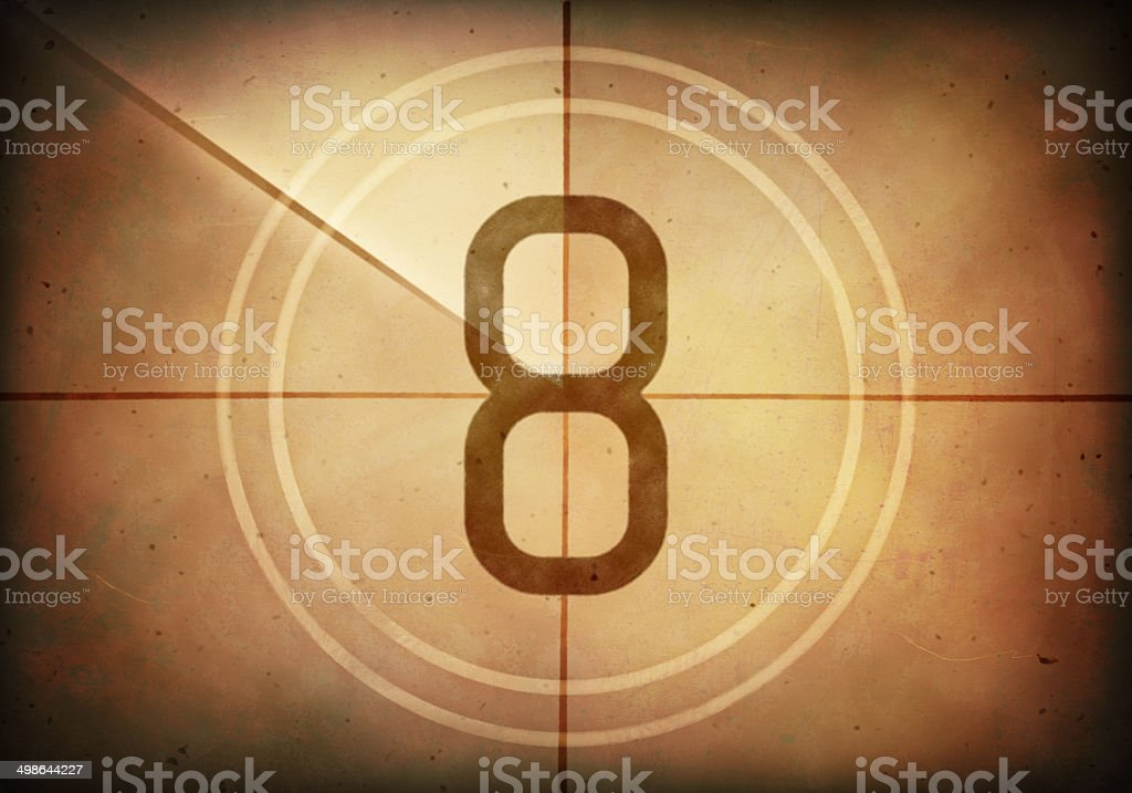 Countdown Eight stock photo