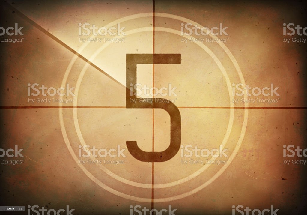 Countdown Five stock photo