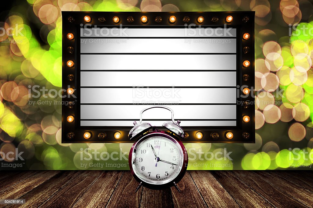 Countdown for new show concept stock photo