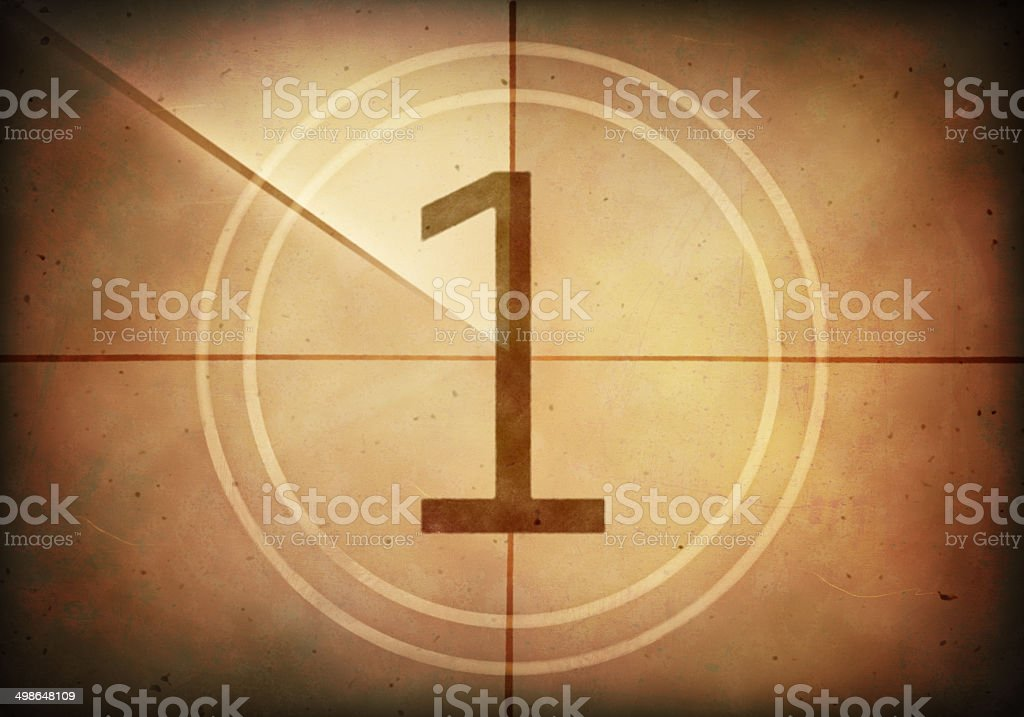 Countdown One stock photo