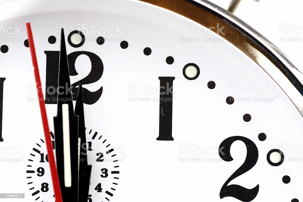 \'Detail of a clock counting down, with only a few seconds to go till...