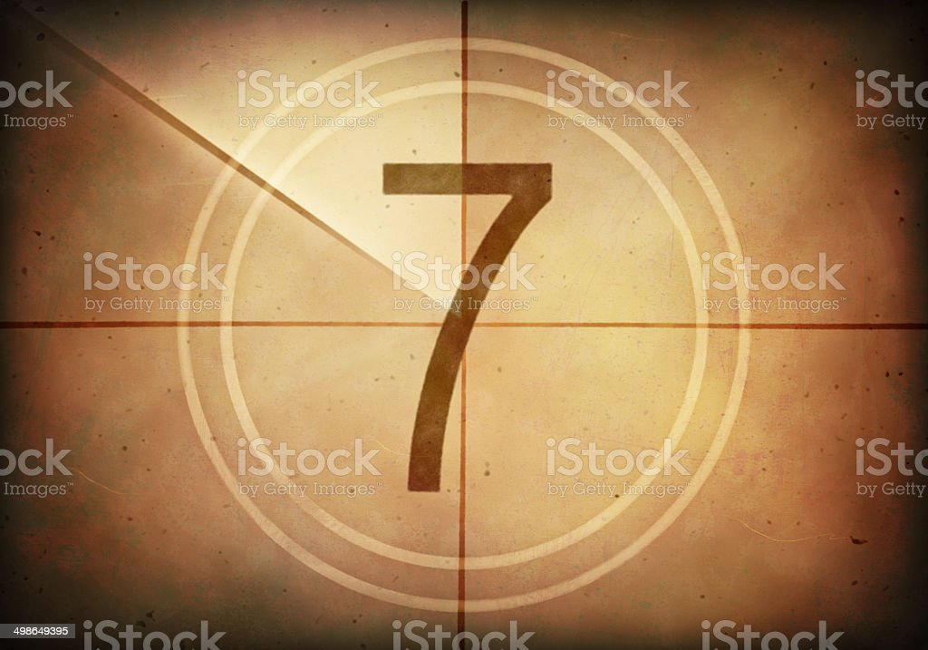 Countdown Seven stock photo