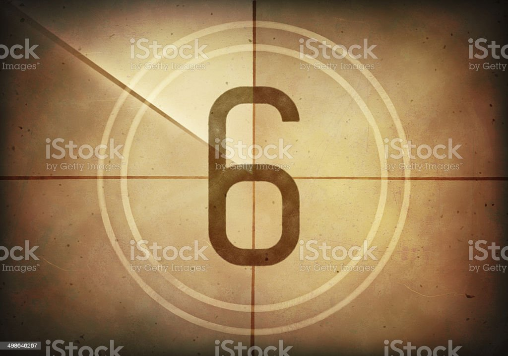 Countdown Six stock photo