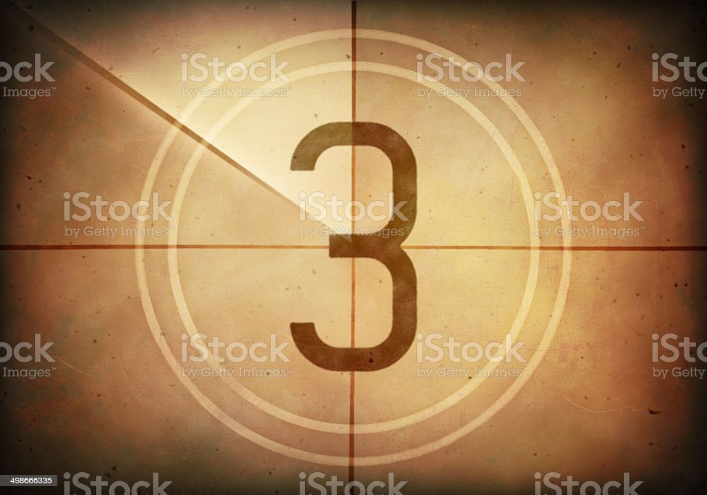 Countdown Three stock photo