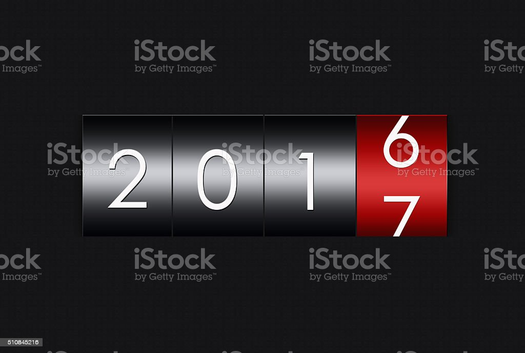 2017 countdown timer  isolated on white background. stock photo