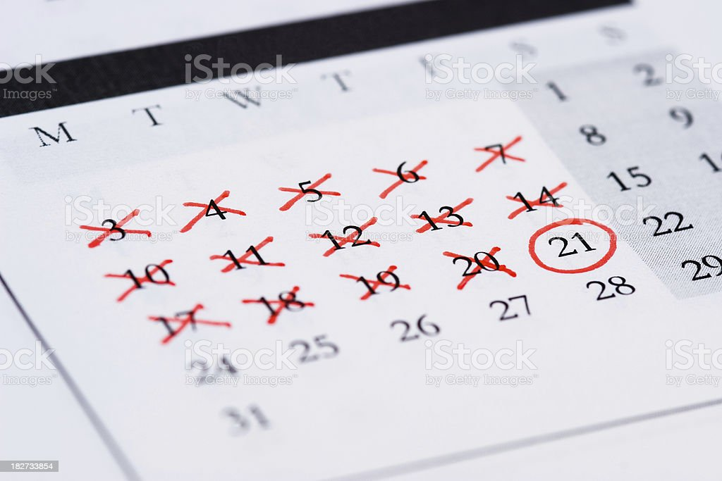 Countdown to Big Day royalty-free stock photo