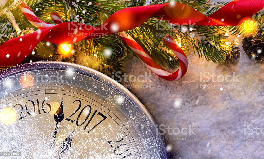Countdown to midnight stock photo
