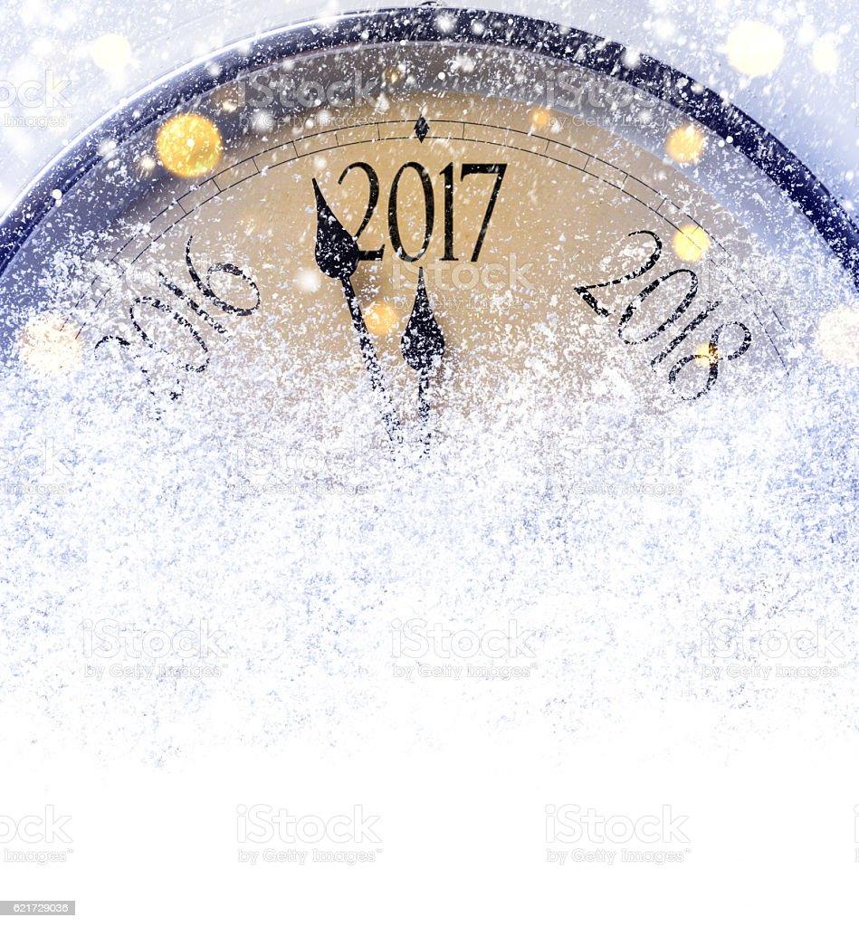 Countdown to midnight stock photo