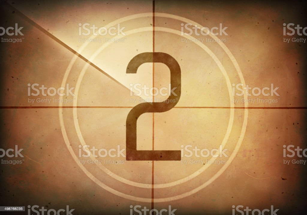 Countdown Two stock photo