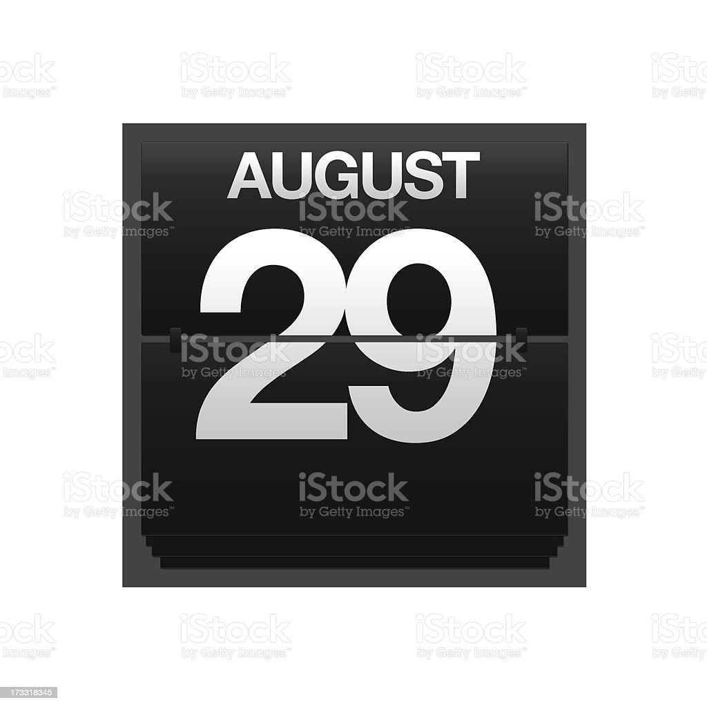 Counter calendar august 29. royalty-free stock photo