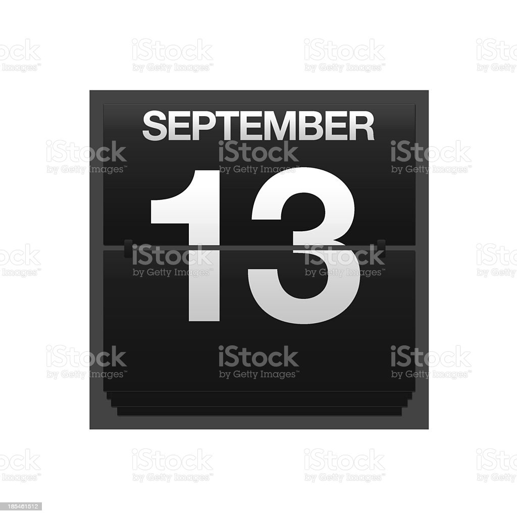 Counter calendar september 13. royalty-free stock photo