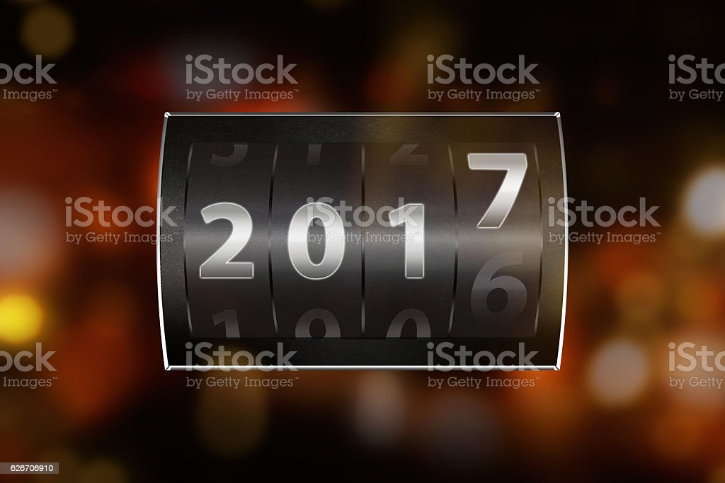 2017 counter digit stock photo