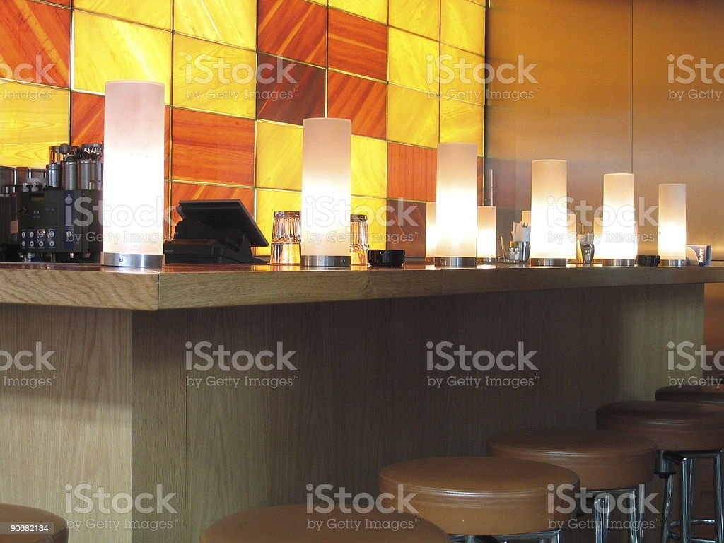counter in a bar stock photo
