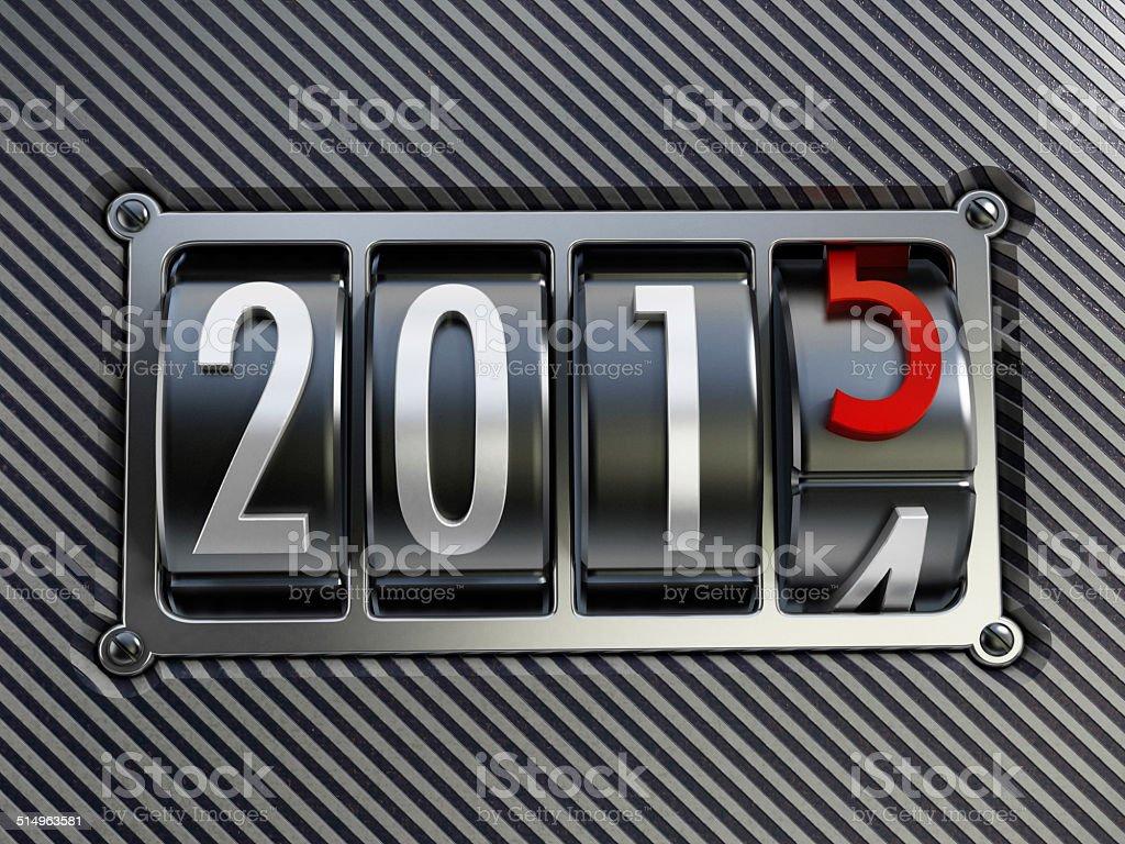 2015 counter stock photo
