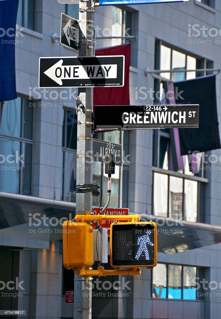 Counter terror sound detecting device, Lower Manhattan, New York City stock photo