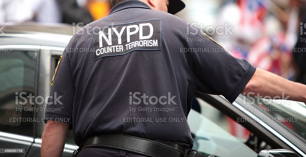 NYPD Counter Terrorism, NYC royalty-free stock photo