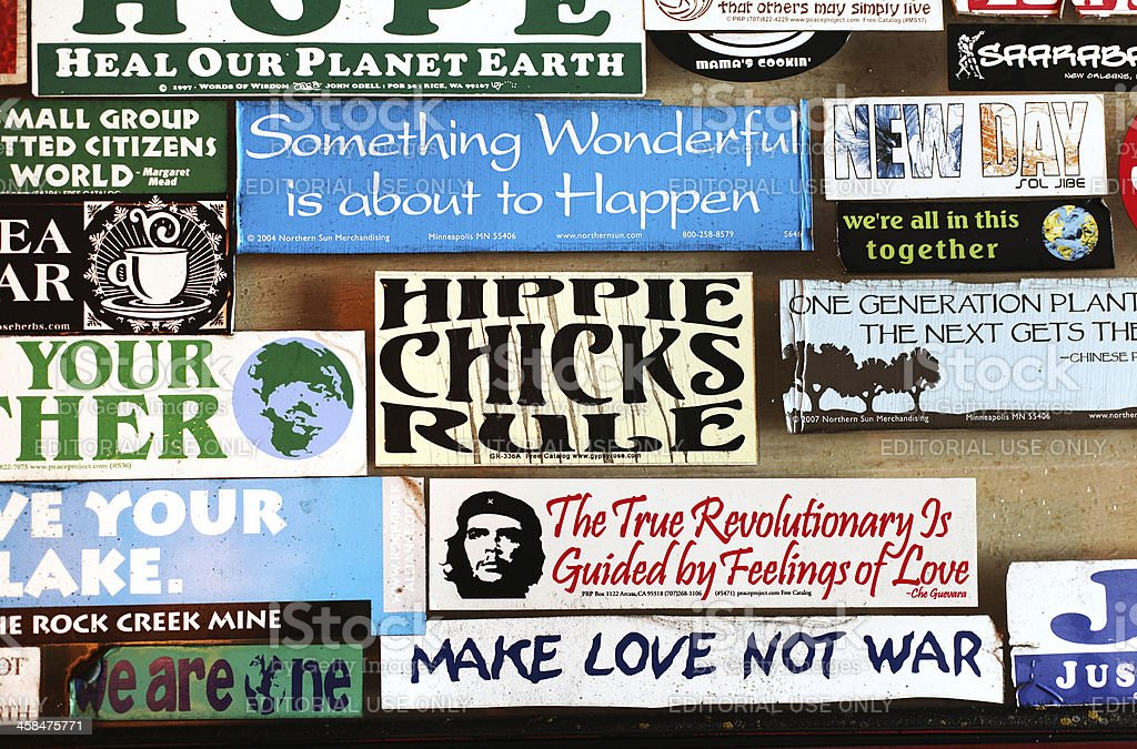 Counterculture Bumper Stickers stock photo