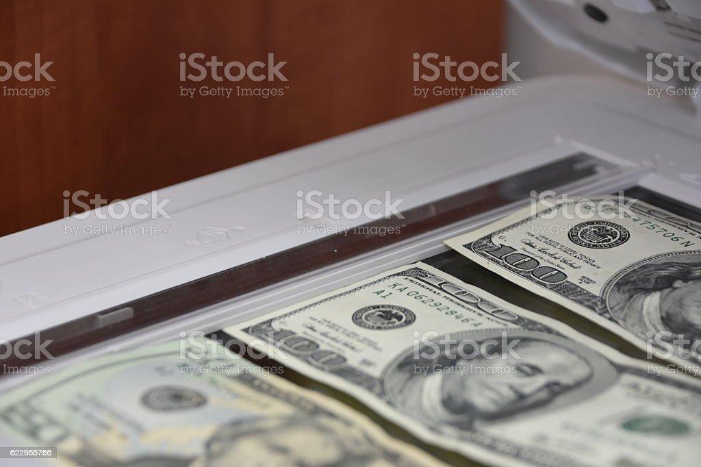 Counterfeit money stock photo