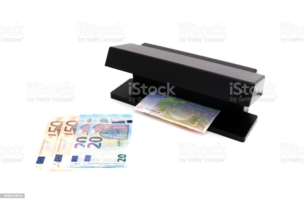 Counterfeit note detector UV-lamps Black stock photo