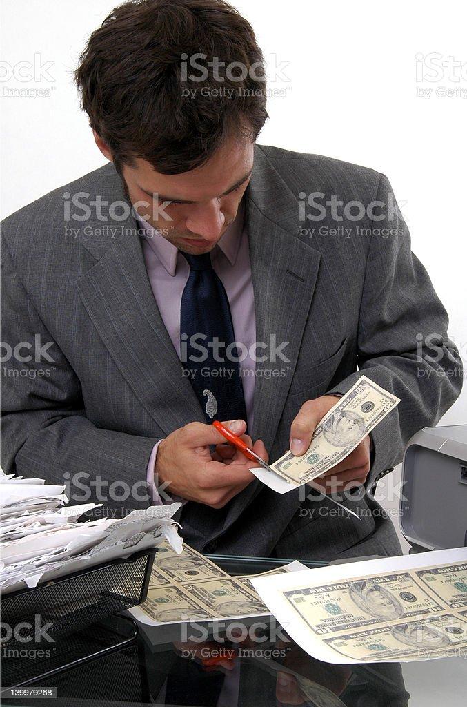 Counterfeiter royalty-free stock photo