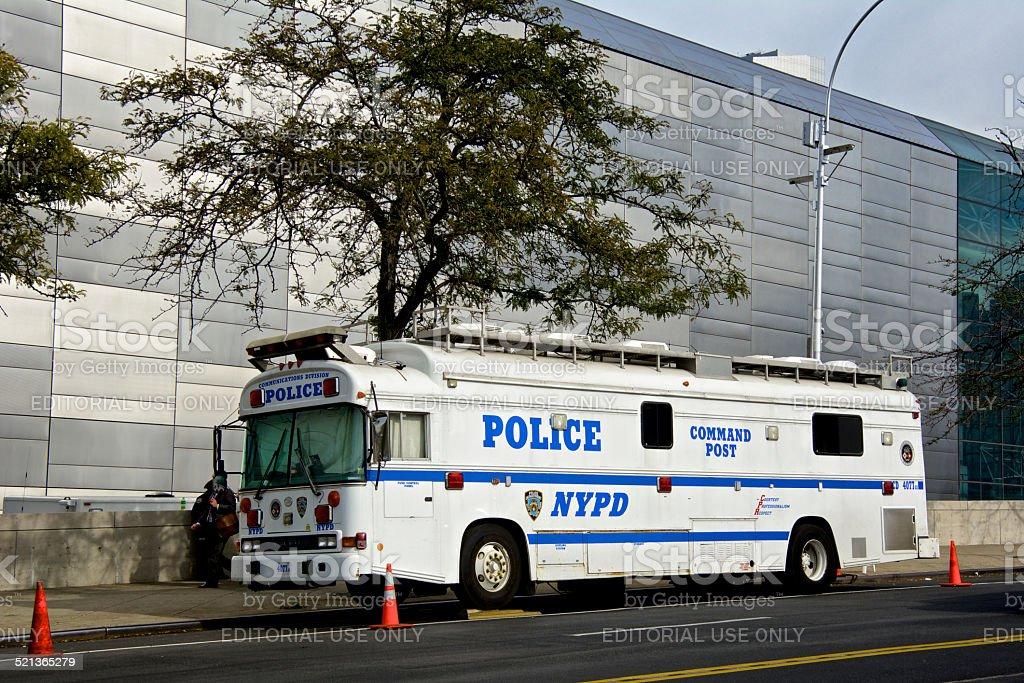 NYPD Counter-Terrorism Patrol, Command HQ, Manhattan, New York City stock photo