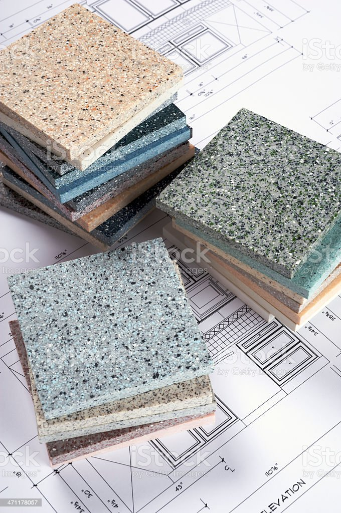 Countertop Samples royalty-free stock photo