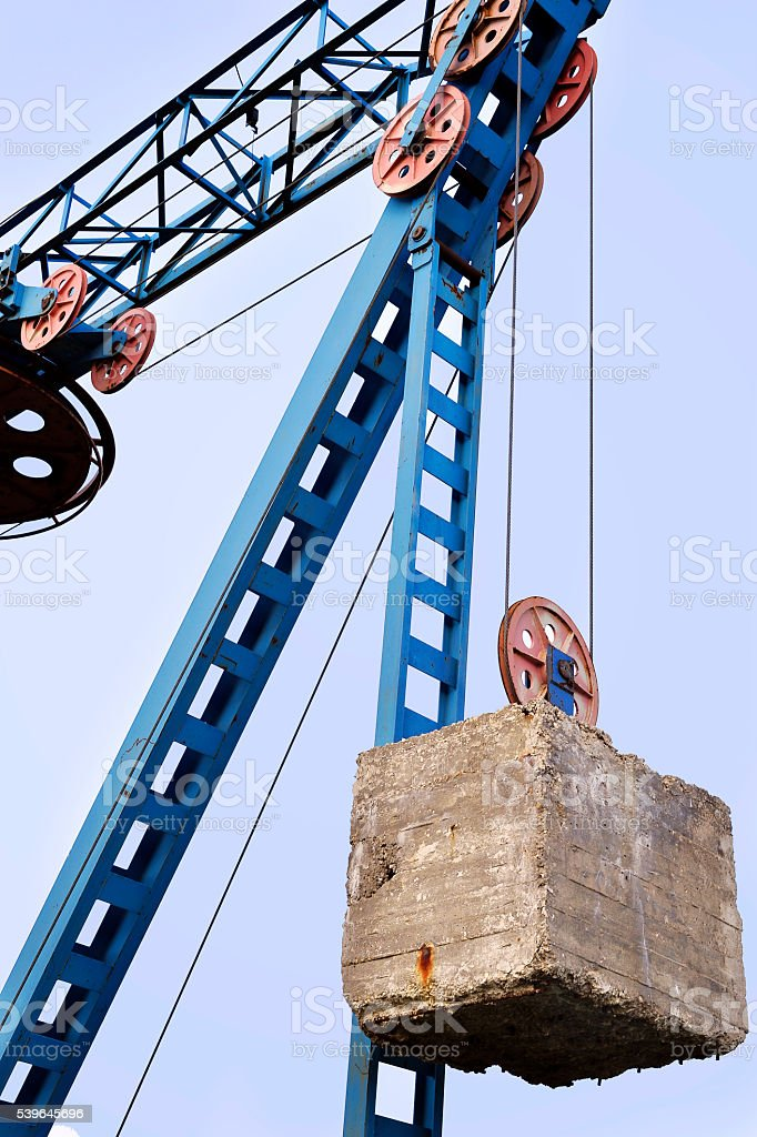 Counterweight on the cable car stock photo