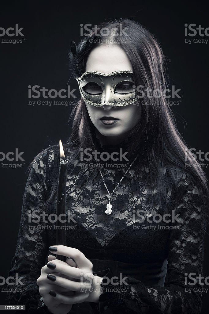 Countess of darkness stock photo