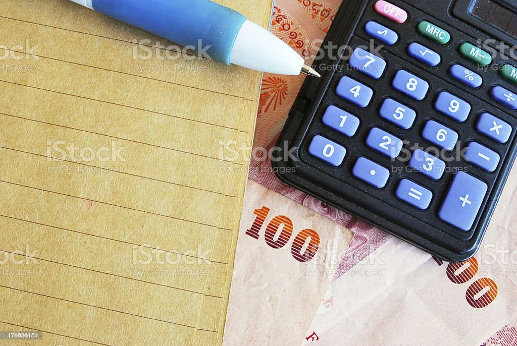 Counting and Calculating royalty-free stock photo