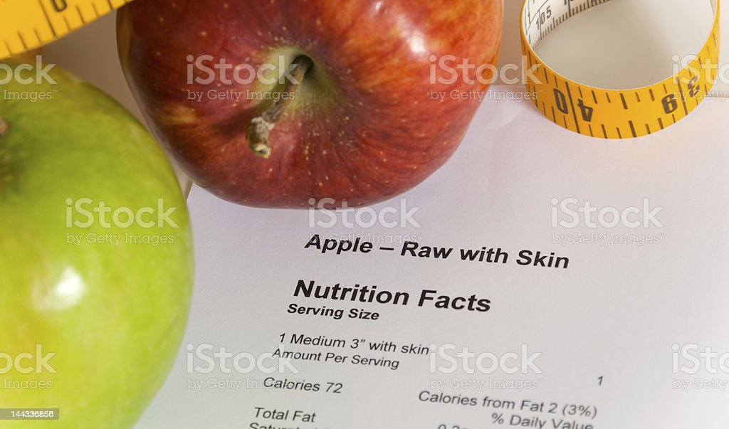 Counting Calories royalty-free stock photo