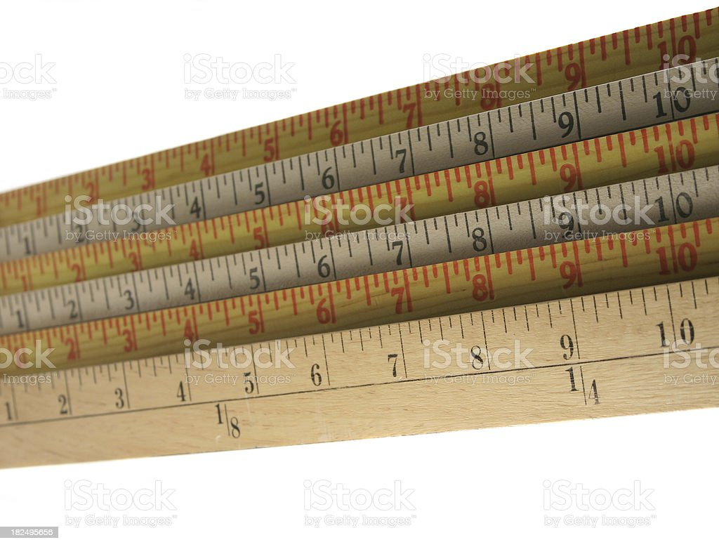 Counting Down from Ten Inches stock photo
