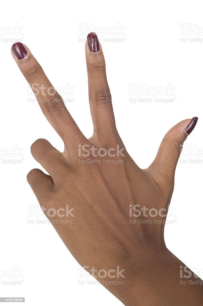 Counting hand stock photo