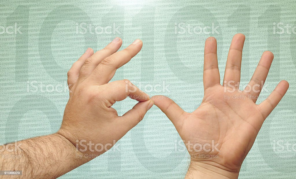 counting hands royalty-free stock photo