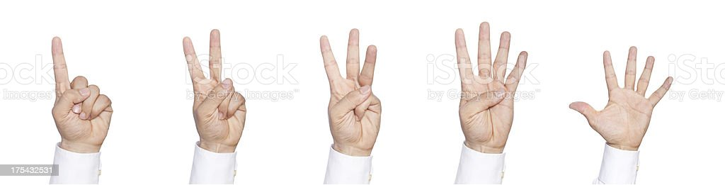 Counting Hands XXXXLarge royalty-free stock photo
