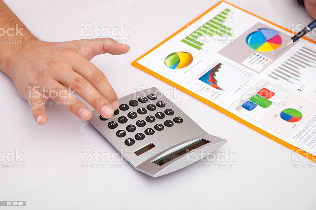 Counting in the Office stock photo