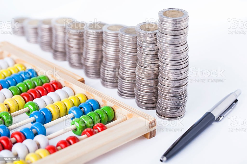 Counting income stock photo
