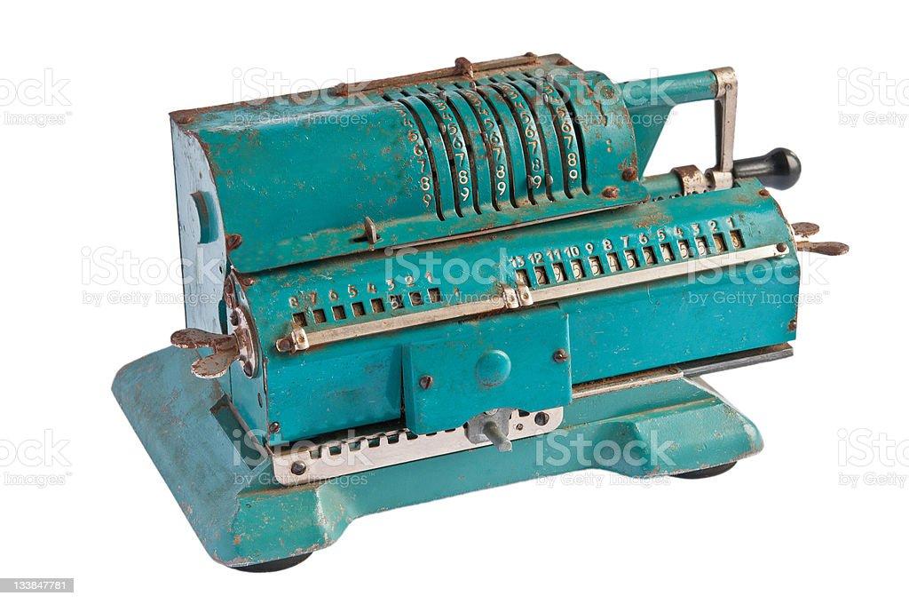 counting machine stock photo