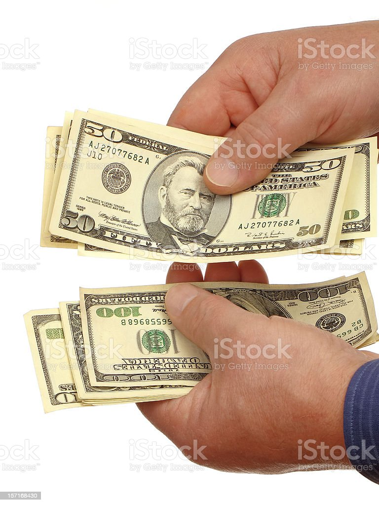 Counting Money II royalty-free stock photo