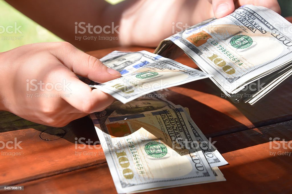 counting money stock photo