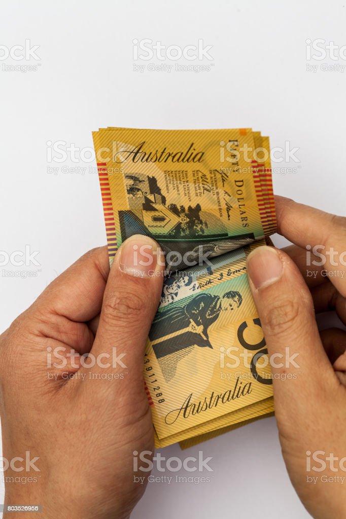 Counting Money stock photo