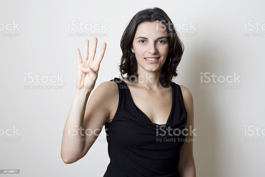 Counting number 4 royalty-free stock photo