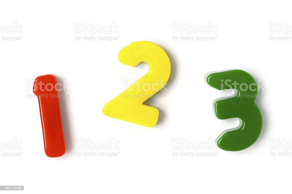 Counting one, two, three stock photo