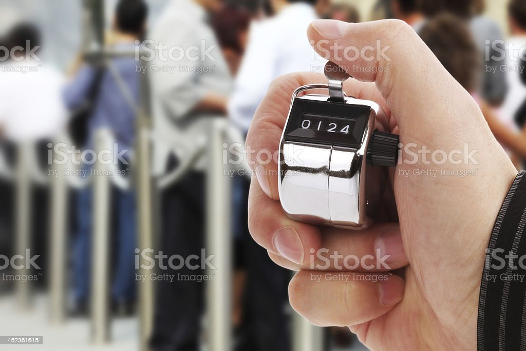 Counting people stock photo