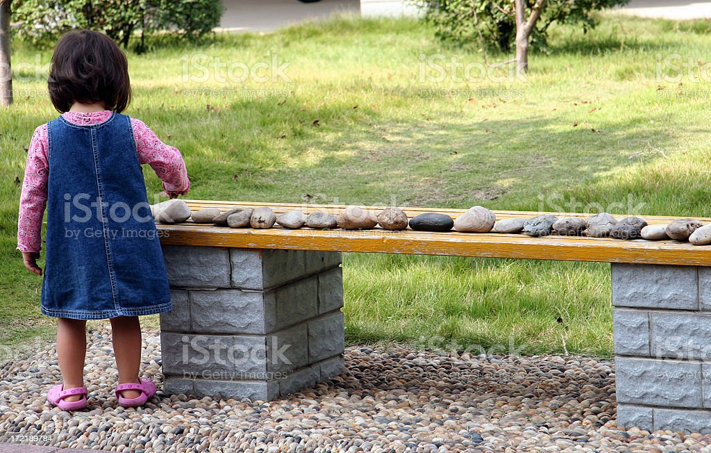 Counting Rocks stock photo