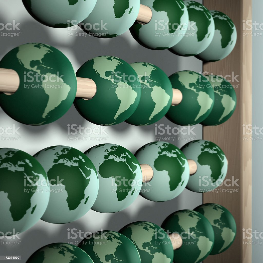 Counting the Cost of a Green Earth royalty-free stock photo