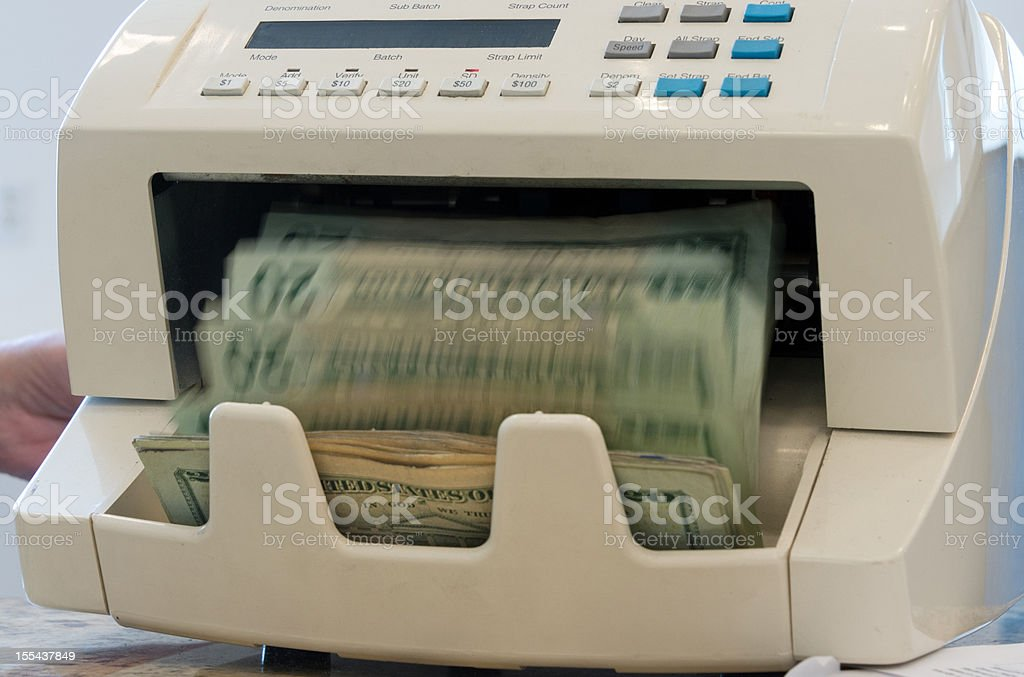 Counting the money stock photo