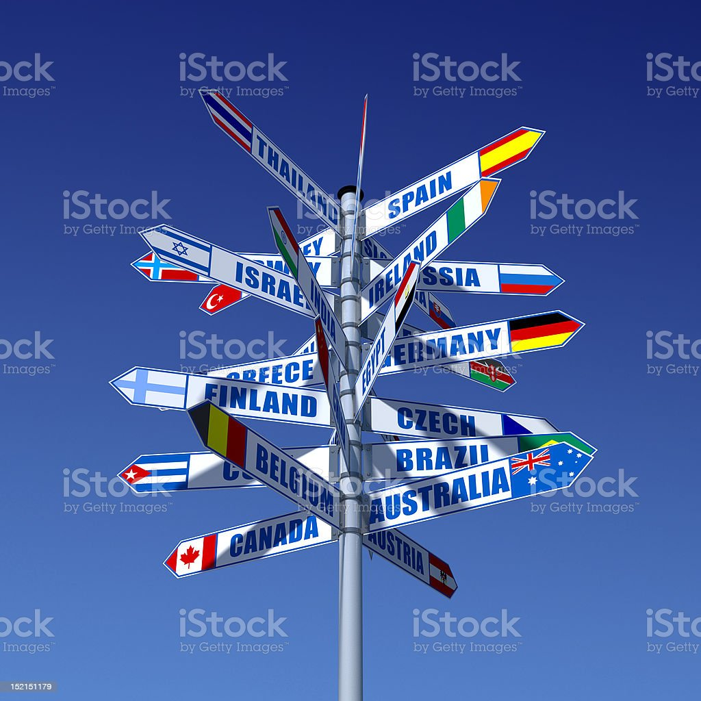 Countries and flags royalty-free stock photo