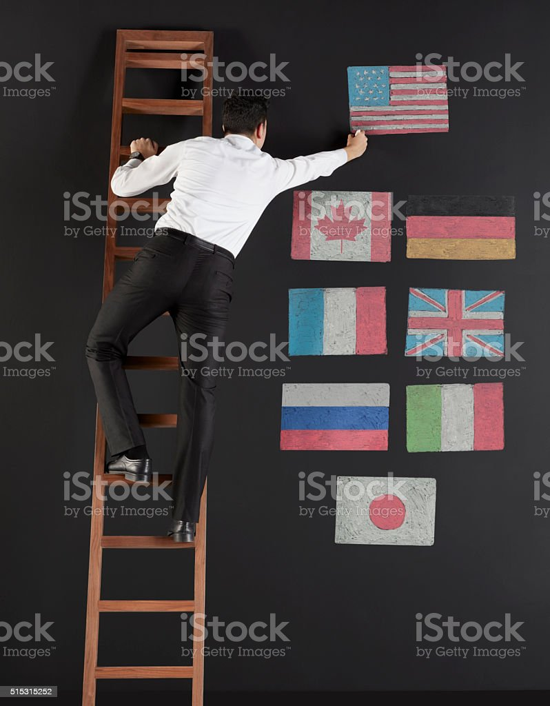 G-8 countries stock photo