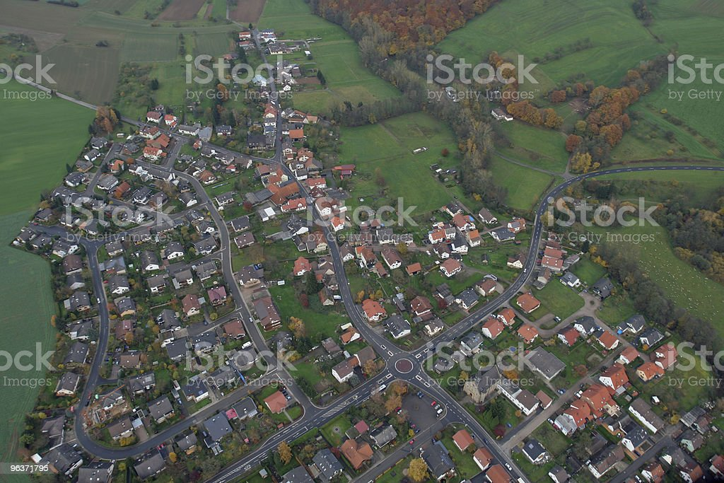 Countrified Village royalty-free stock photo