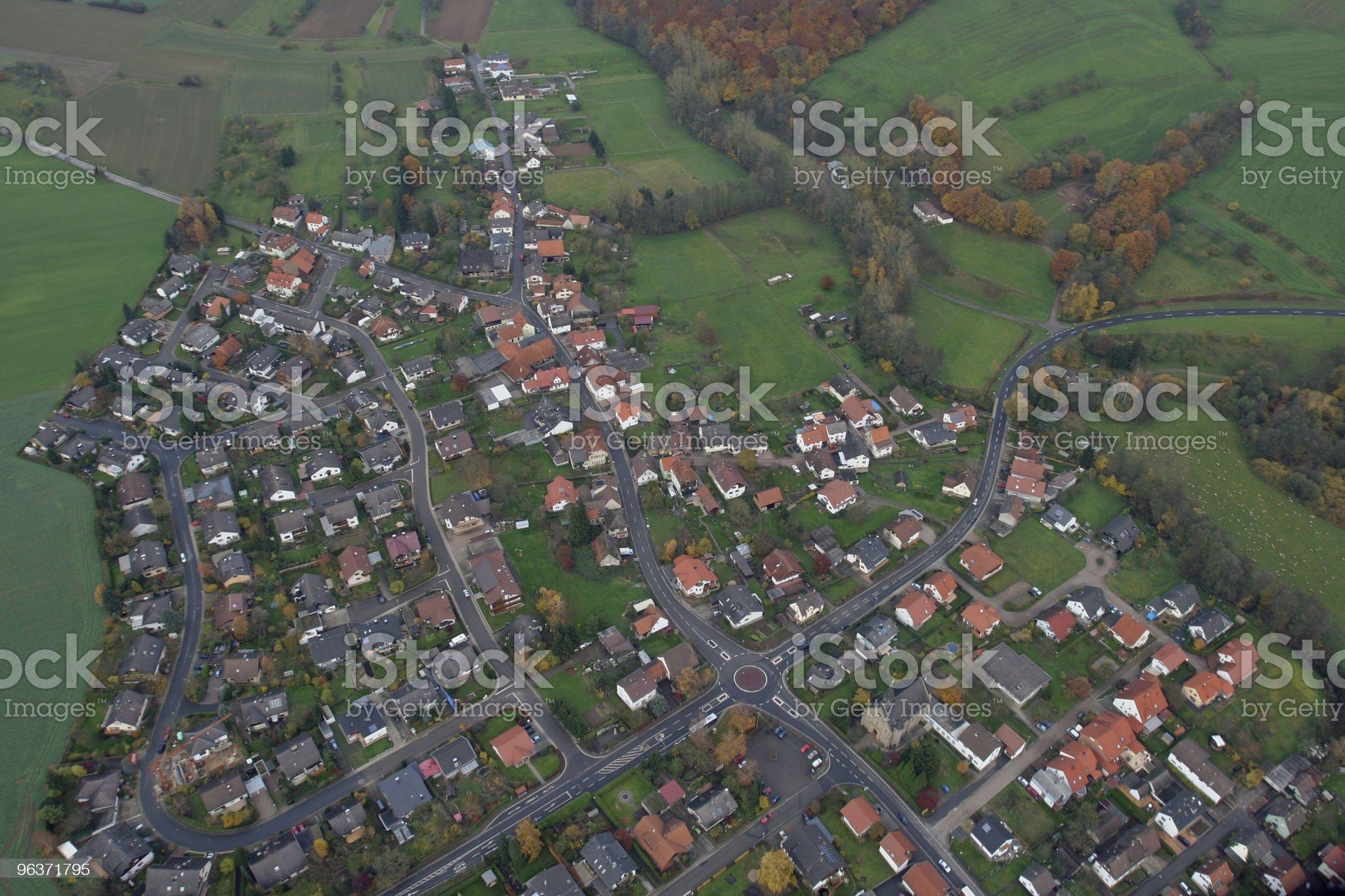 Countrified Village royalty-free stock photo